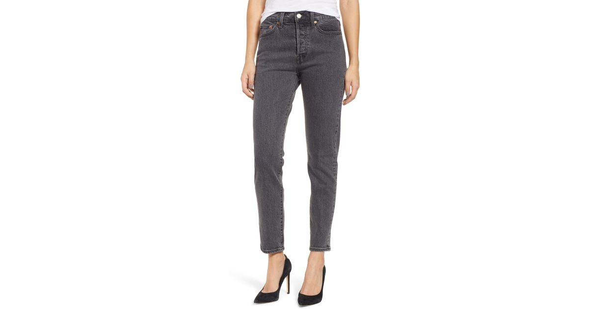 826c590d2c3 Lyst - Levi S Wedgie Icon Fit High Waist Ankle Jeans