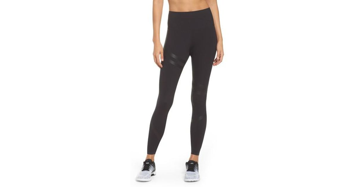 2c810d9d Reebok - Black Linear High Rise Performance Tights - Lyst