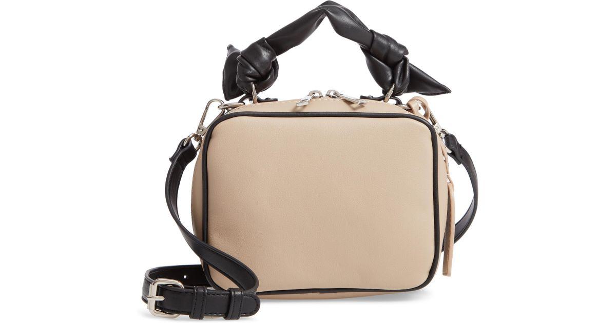 Lyst - Sole Society Douga Faux Leather Crossbody Camera Bag 7391f9e1f3b1e
