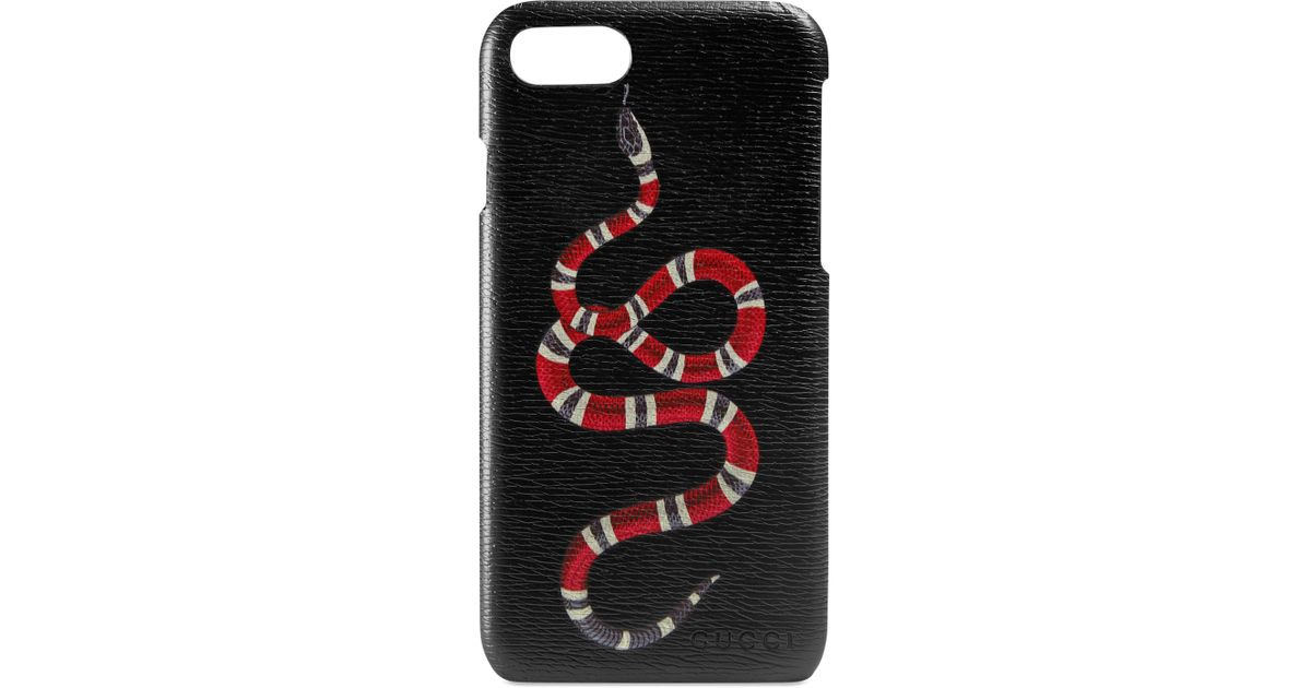 b3d7a2bd4a3f Lyst - Gucci Snake Iphone 7 Case in Black for Men