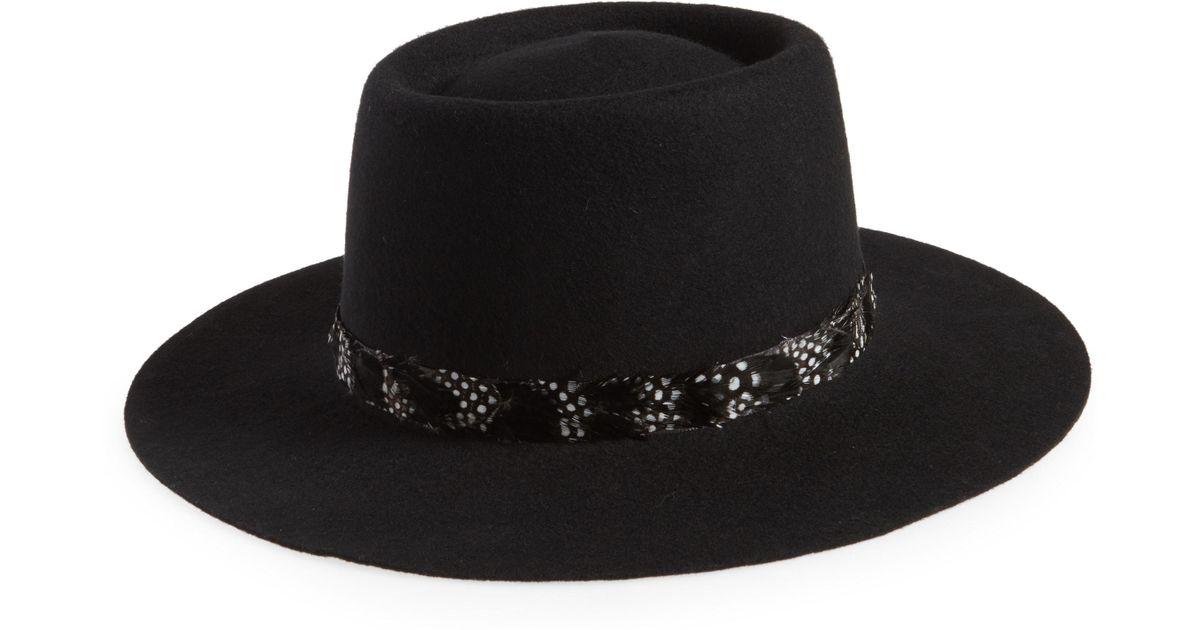 Lyst - Treasure   Bond Wool Boater Hat in Black 13c3aaa3215d