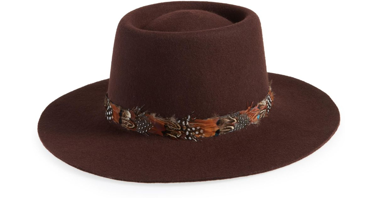 Treasure   Bond Wool Boater Hat - in Brown - Lyst 2fef897b7dd8
