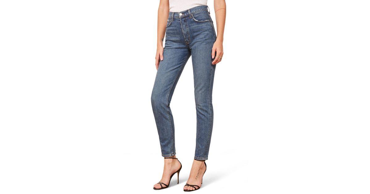 af53c269ac7b28 Reformation Melissa High & Skinny Jeans in Blue - Lyst