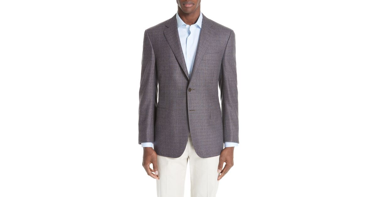 bea4bd2665d Lyst - Canali Classic Fit Check Wool   Cashmere Sport Coat in Gray for Men