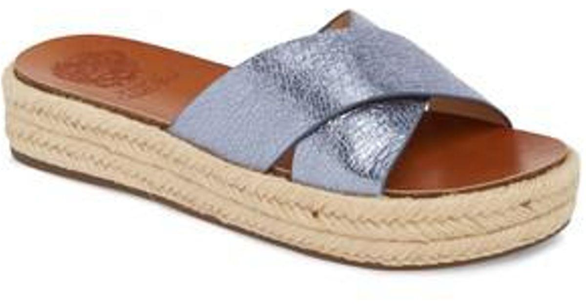 006c77f8120 Lyst - Vince Camuto Carran Platform Sandal in Blue