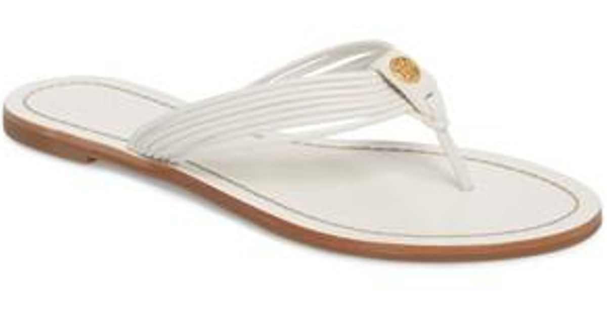 1c63c5050eb Lyst - Tory Burch Sienna Strappy Thong Sandal (women) in White