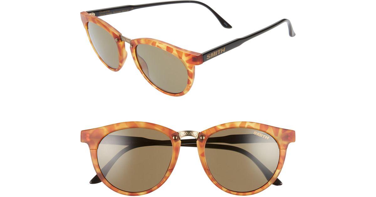 6fbbd3601e08f Lyst - Smith Questa 49mm Chromapop Polarized Sunglasses - Honey Tortoise   Grey Green in Gray