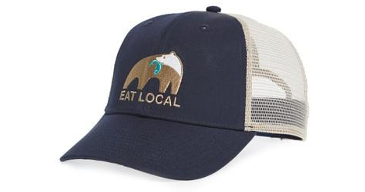 3d5ac509f5 Lyst - Patagonia Eat Local Upstream Trucker Hat in Blue for Men
