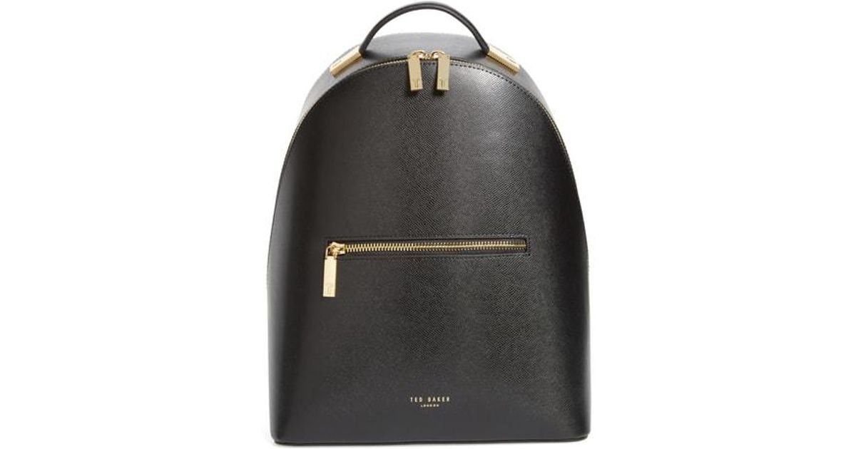 732146472 Lyst - Ted Baker Mini Jarvis Leather Backpack - in Black