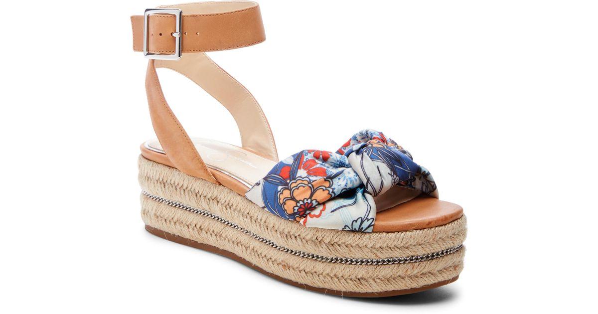 42ce3724b53 Lyst - Jessica Simpson Aprille Platform Ankle Strap Sandal in Blue
