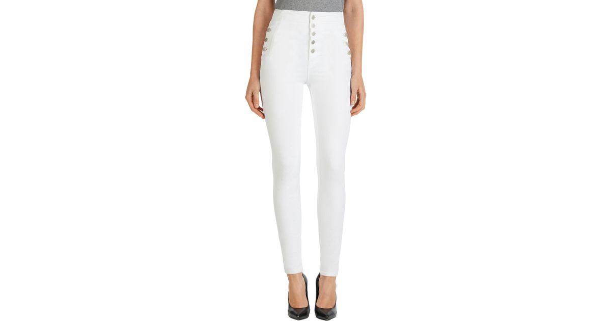 3661ed9b02d2 Lyst - J Brand  natasha Sky High  High Rise Skinny Jeans in White