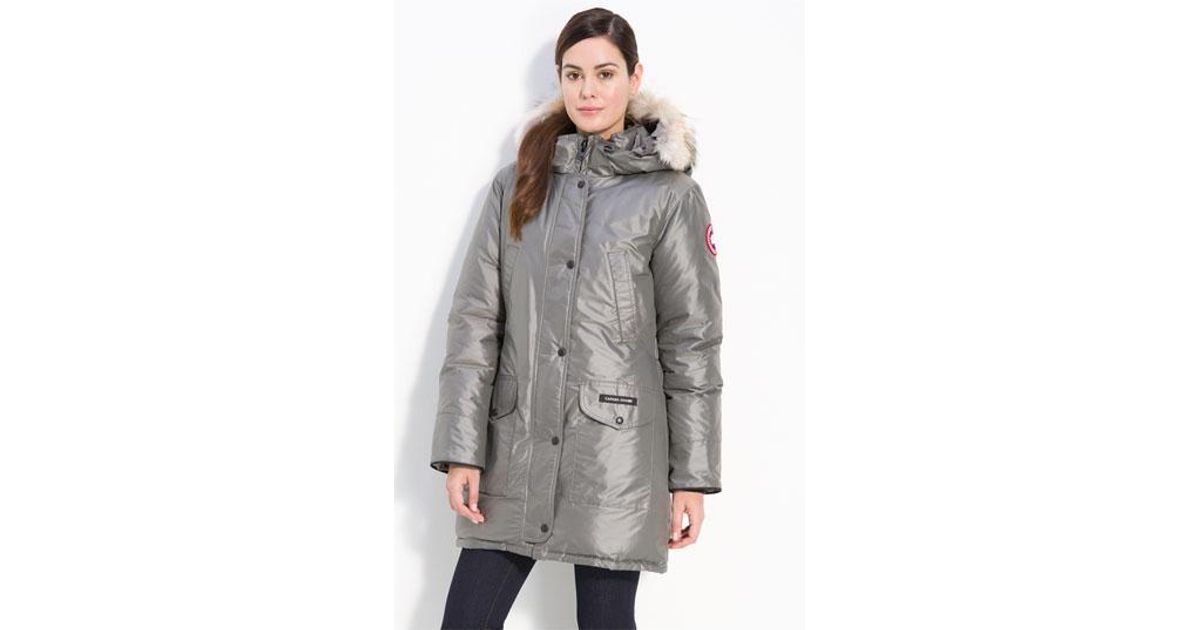 ... Lyst - Canada Goose trillium Regular Fit Down Parka With Genuine Coyote Fur Trim in Gray .