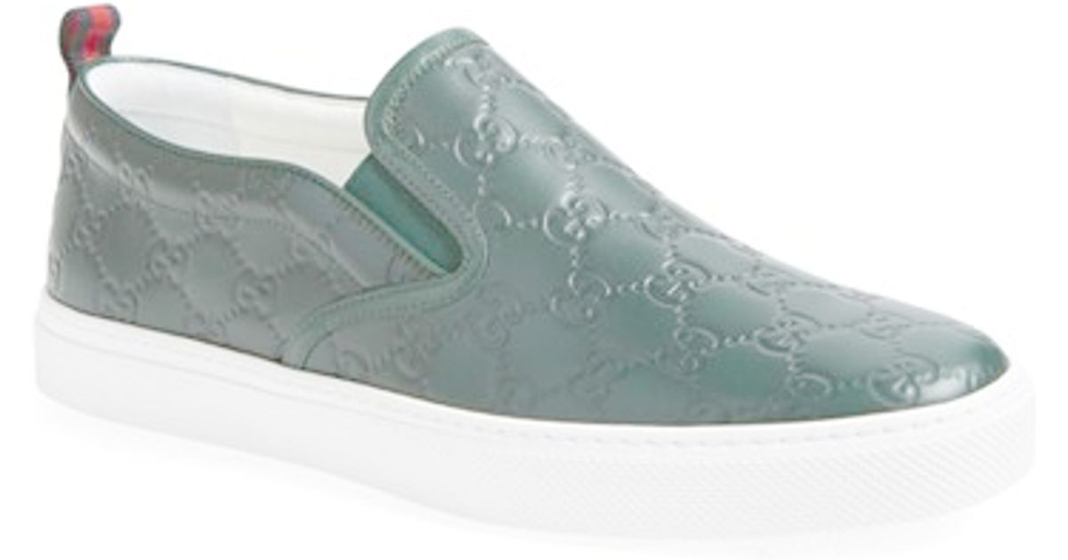 d57423cf62b Lyst - Gucci  Dublin  Slip-on Sneaker in Green for Men