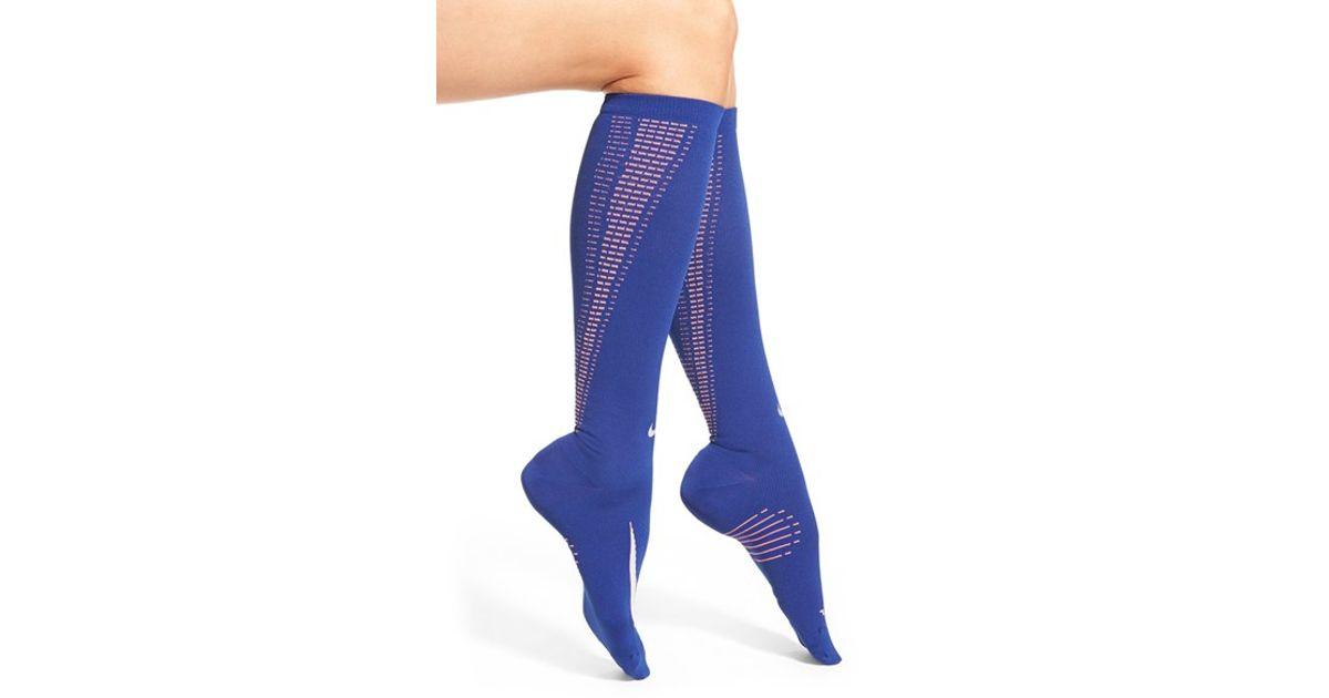 Nike 'elite' Knee High Socks in Blue | Lyst