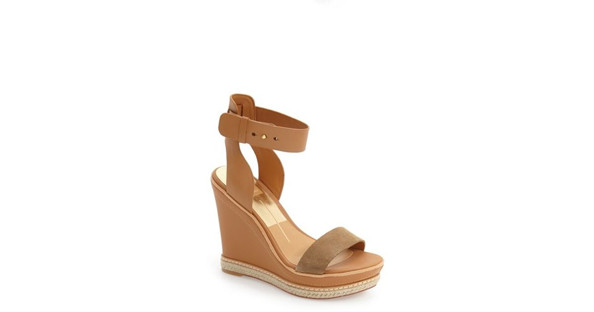 9c2a26f779f Lyst - Dolce Vita  heath  Platform Wedge Sandal in Brown