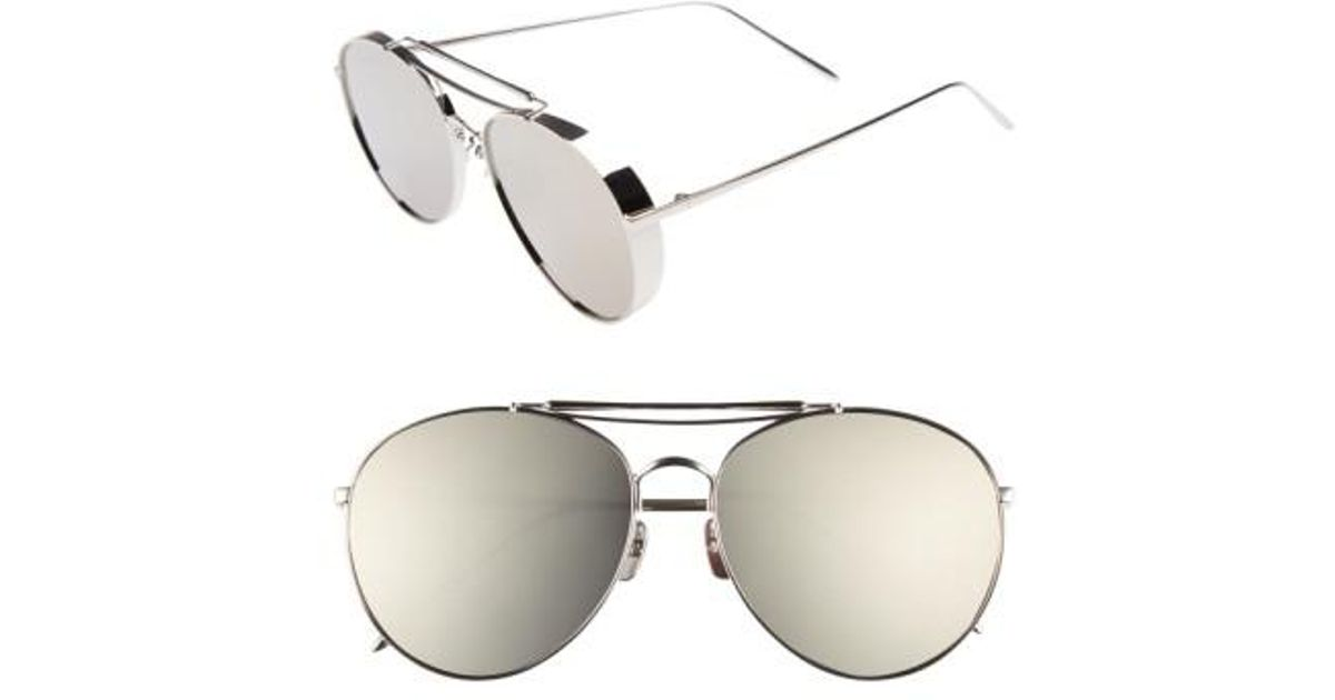 a37eccc0c1 Gentle Monster 60mm Aviator Sunglasses in Gray - Lyst