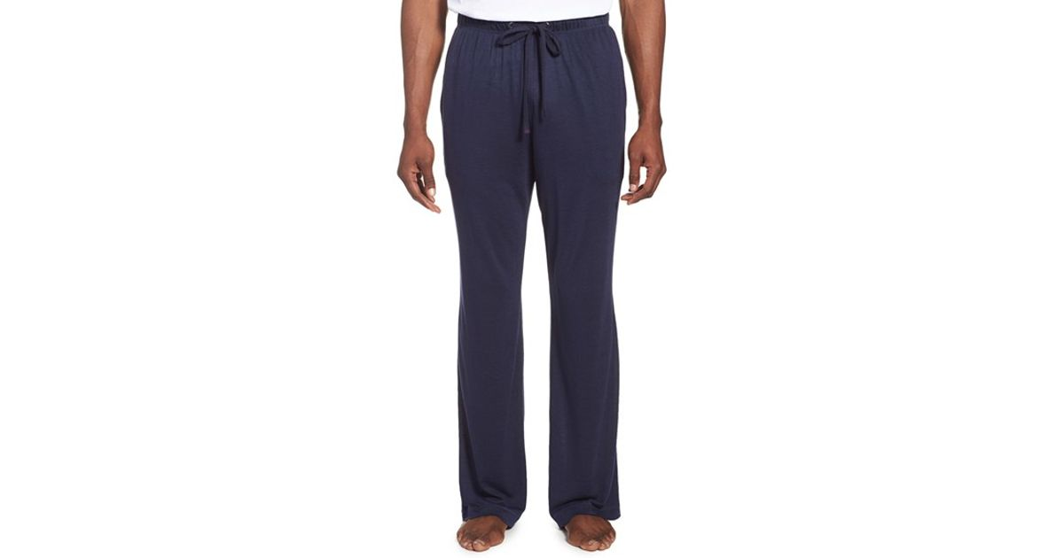 Daniel Buchler Modal Amp Linen Lounge Pants In Blue For Men