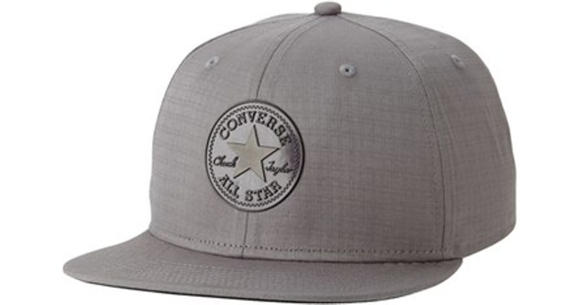 7adf5ac9dc8 Lyst - Converse  ripstop  Snapback Cap in Gray for Men