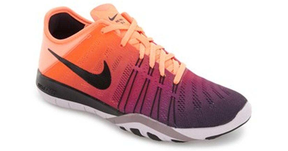 a0799001c1b9 Lyst - Nike Free Tr 6 Spectrum Training Shoe in Orange