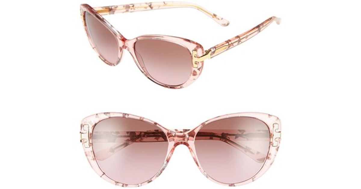 78a4bed263fe Lyst - Tory Burch 56mm Cat Eye Sunglasses in Pink