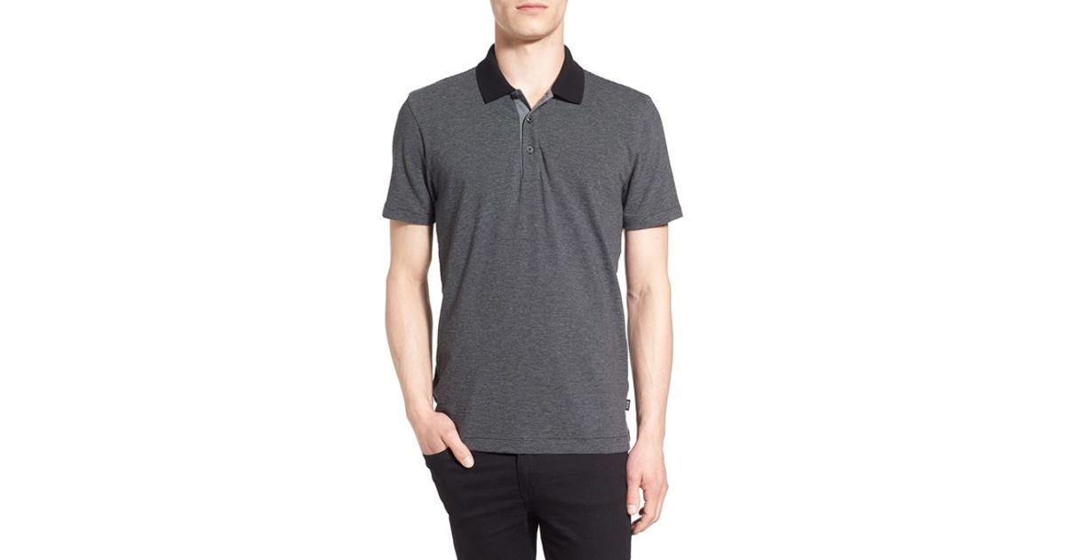4263c28eb Lyst - Boss 'phillipson' Slim Fit Stripe Polo in Gray for Men