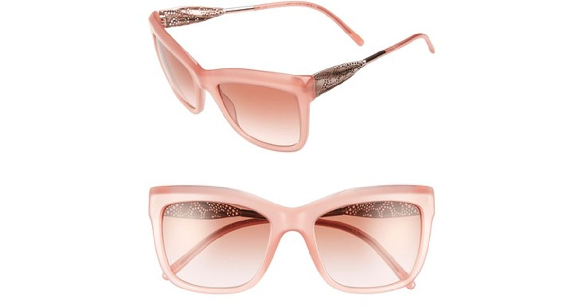 f59a1701a56 Lyst - Burberry 56mm Sunglasses - Opal Pink in Pink