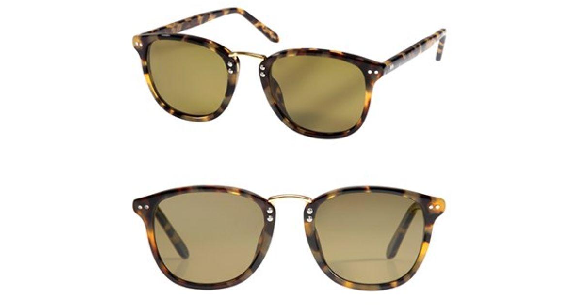1ae080d9c71 Lyst - Krewe  franklin  49mm Polarized Retro Sunglasses - Blonde Tortoise   Polarized in Brown