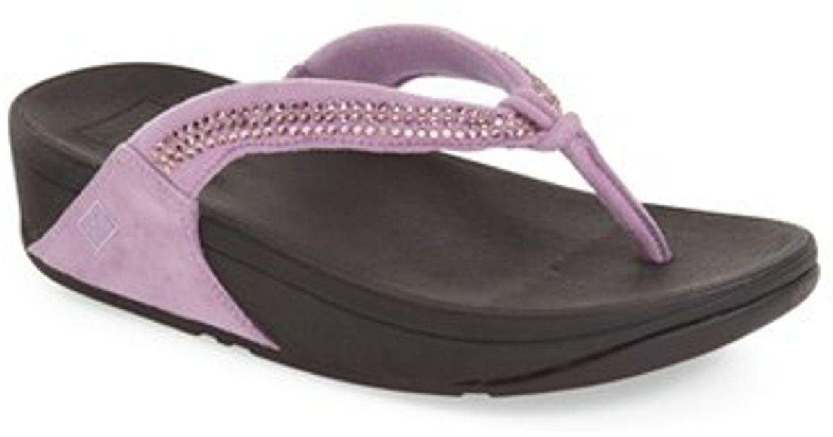 234d40bd3592 Lyst - Fitflop (tm)  crystal Swirl  Flip Flop in Purple