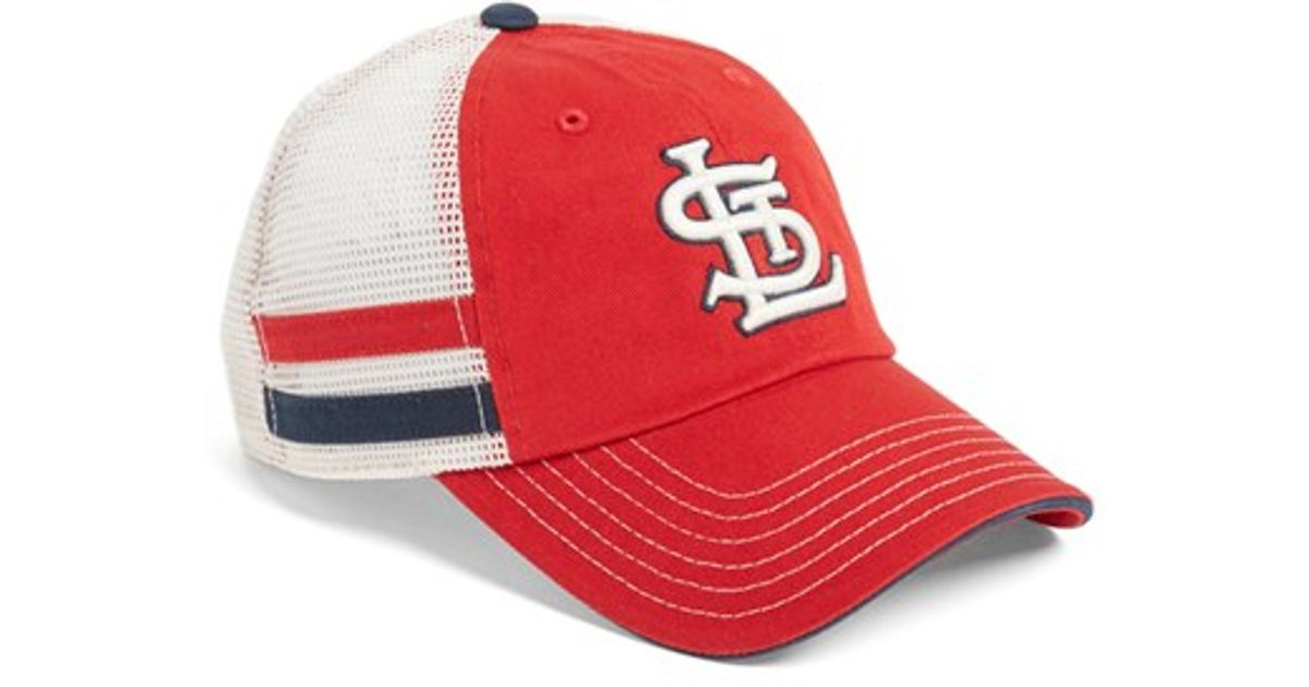 Lyst - American Needle  foundry - St. Louis Cardinals  Mesh Back Baseball  Cap in Red for Men b8db37847b6