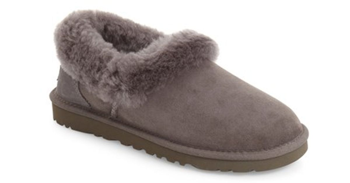 fa2401e5303 Lyst - UGG Ugg Nita Genuine Shearling Slipper in Gray