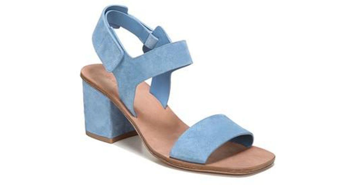 Via Spiga Women's Kamille Suede Block Heel Ankle Strap Sandals