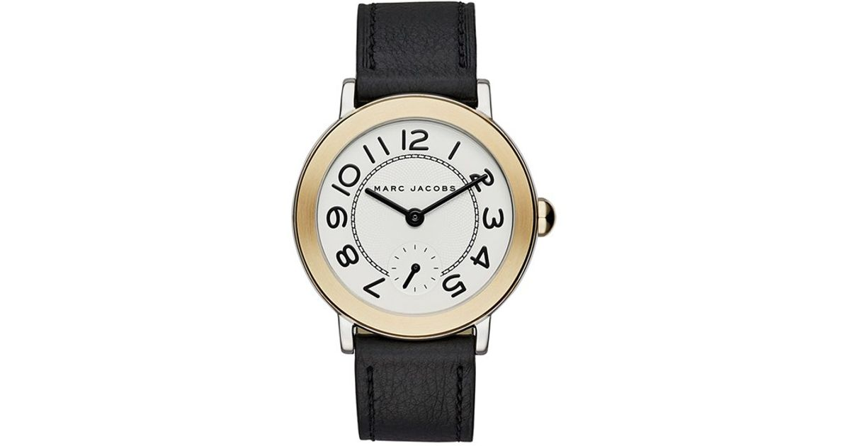ad2c5acfaa2 Lyst - Marc Jacobs  riley  Leather Strap Watch in Metallic