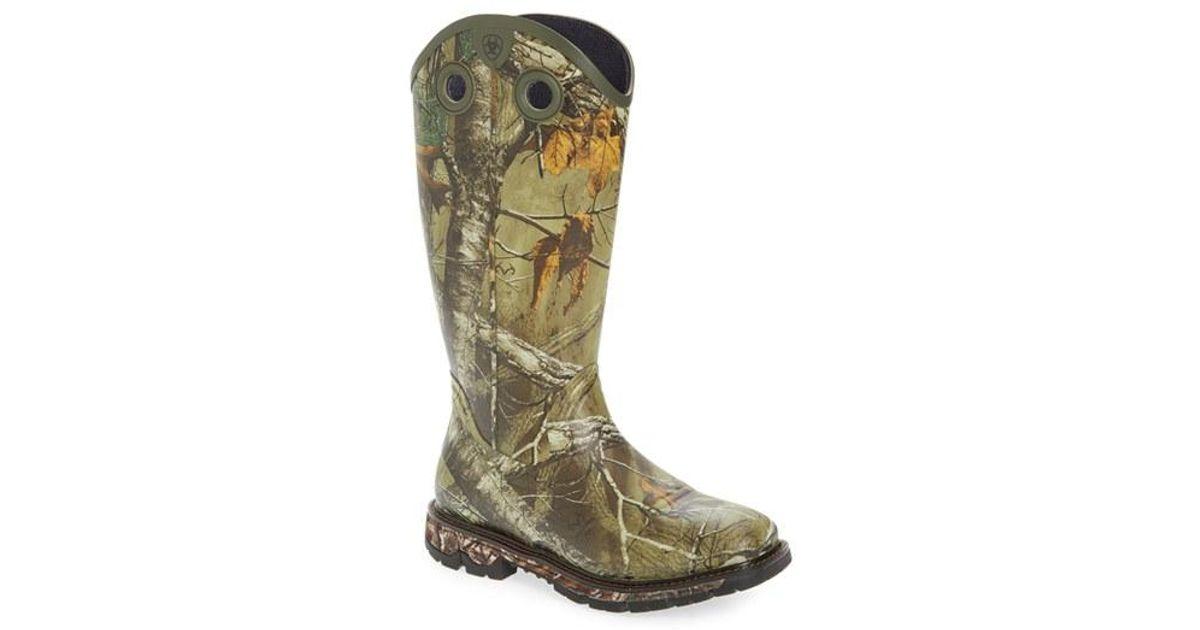 Ariat Conquest Buckaroo Waterproof Boot In Black For Men