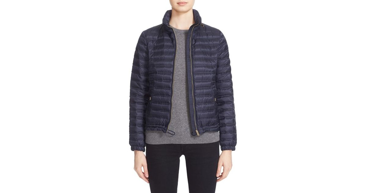 Burberry Jacksdale Packable Down Puffer Jacket Blue In