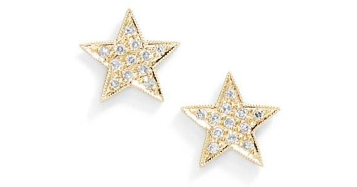 Dana Rebecca Julianne Himiko Diamond Star Stud Earrings In Metallic Lyst