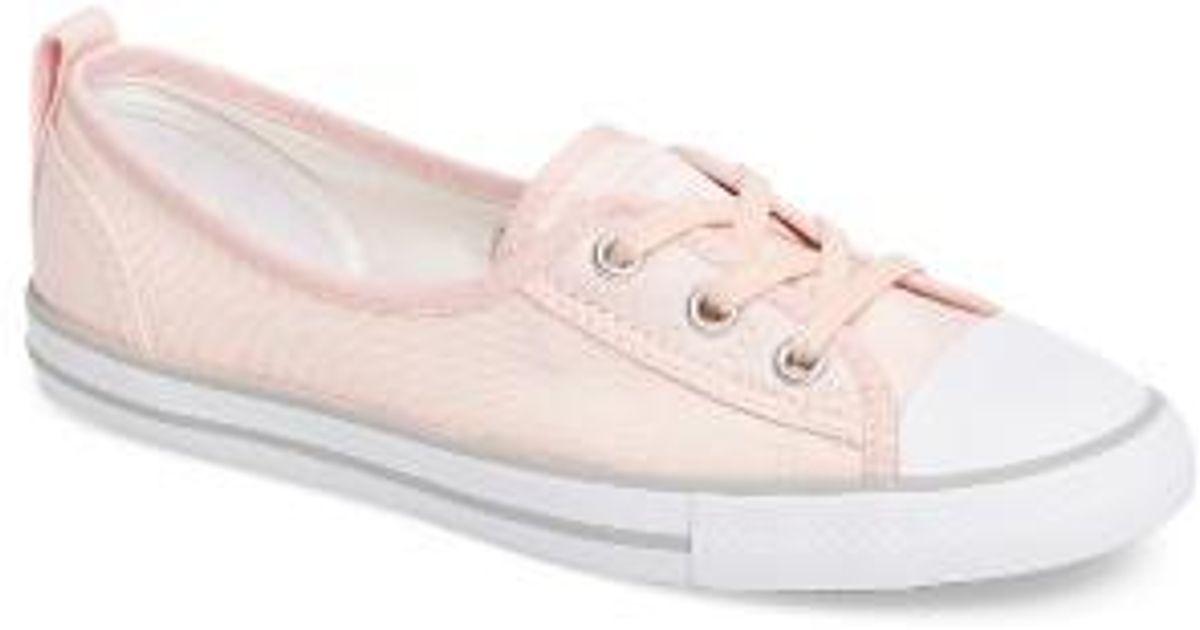 1e83ed6de70260 Lyst - Converse Chuck Taylor All Star Ballet Canvas Sneaker in Pink