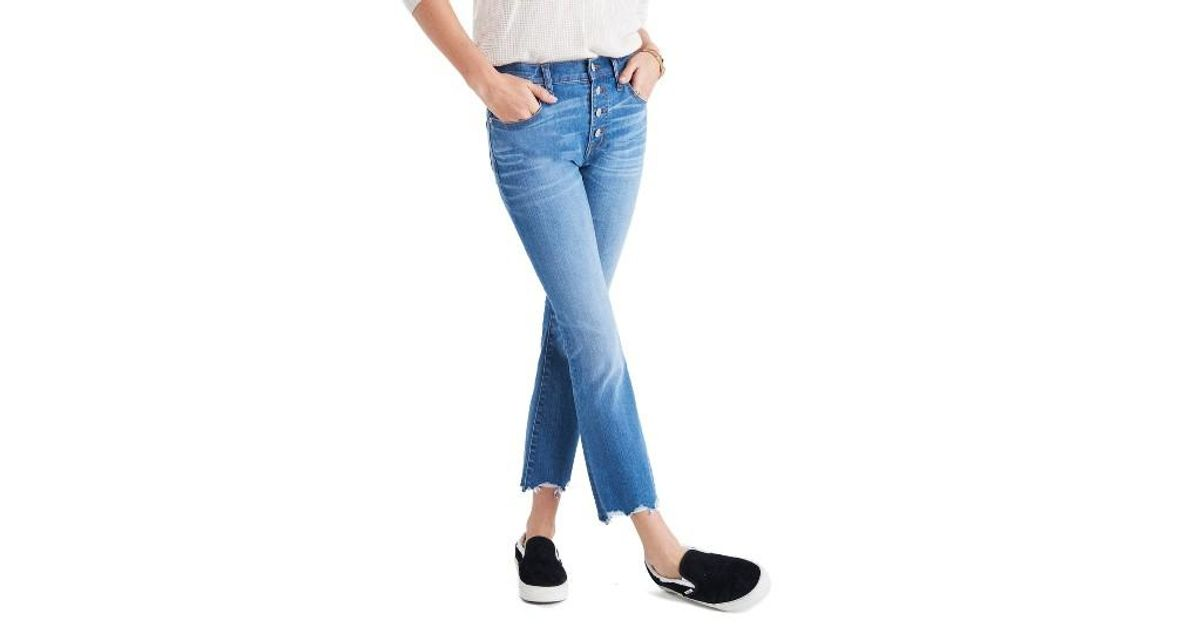 Madewell Cali Demi Boot Jeans In Blue Lyst