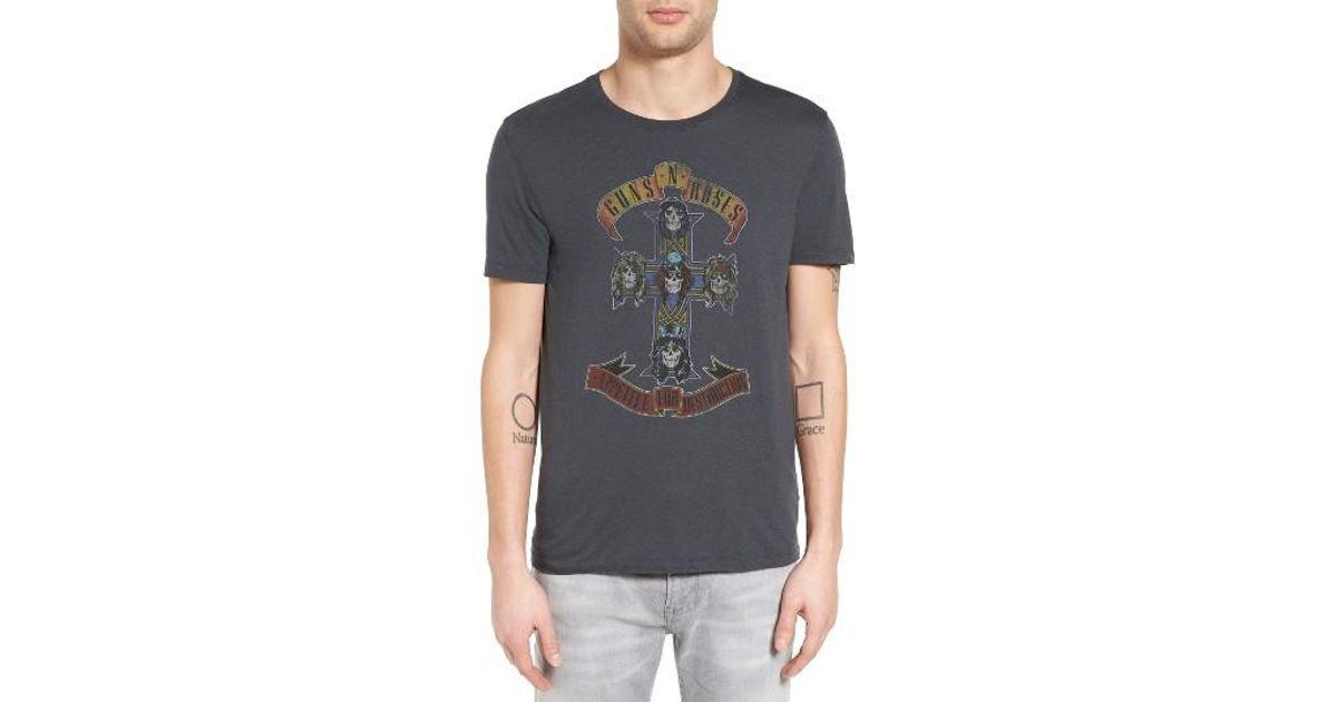 Lyst John Varvatos Guns N 39 Roses Graphic T Shirt In Gray