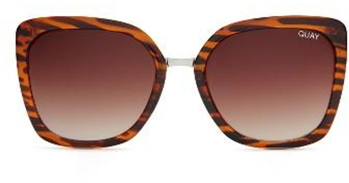 e075f46b7a2dc Lyst - Quay Capricorn Square Sunglasses - Tort  Brown in Brown