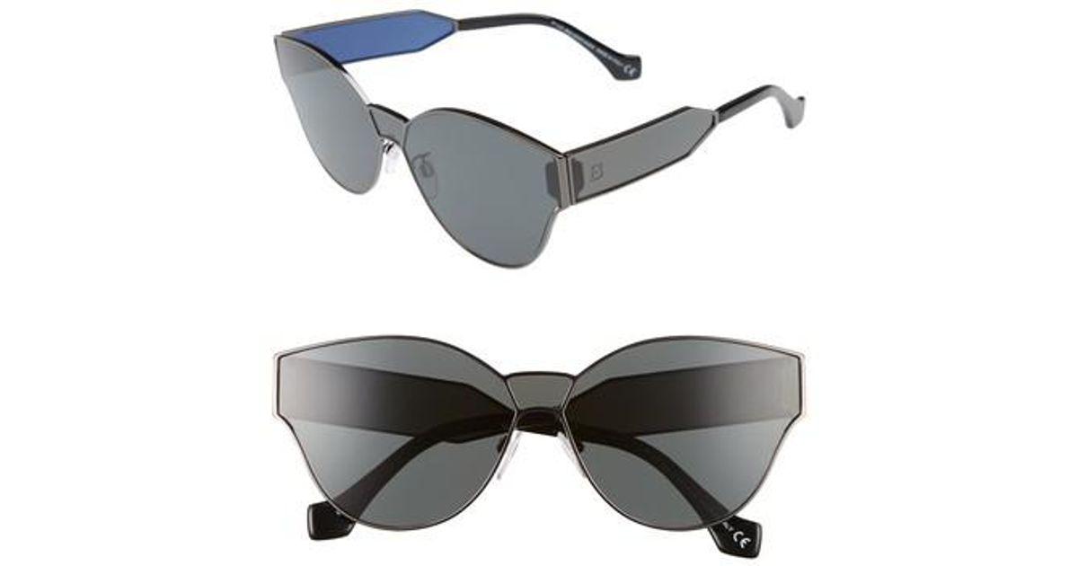 3cc23bf1ea3 Lyst - Balenciaga 65mm Sunglasses - Ruthenium  Black  Smoke in Black