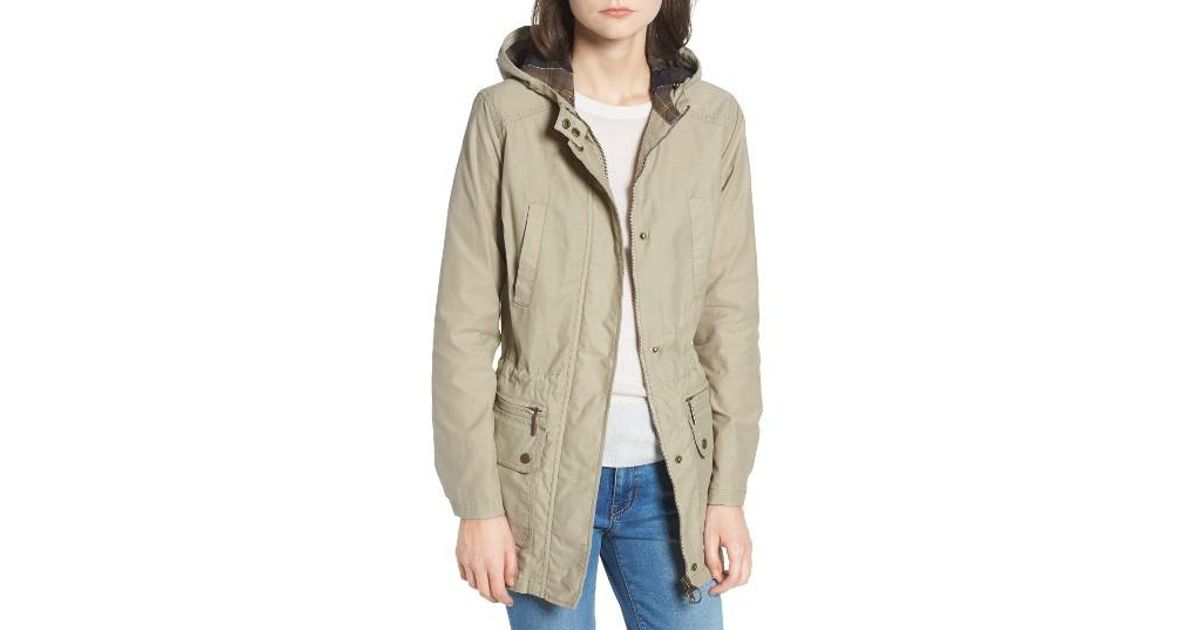 Lyst Barbour Asiatic Lily Hooded Jacket In Natural