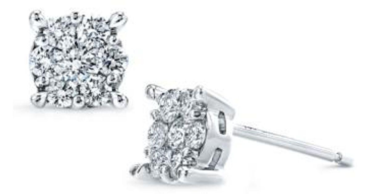 1e9705013 Lyst - Bony Levy 'lucky 7' Diamond Stud Earrings in White