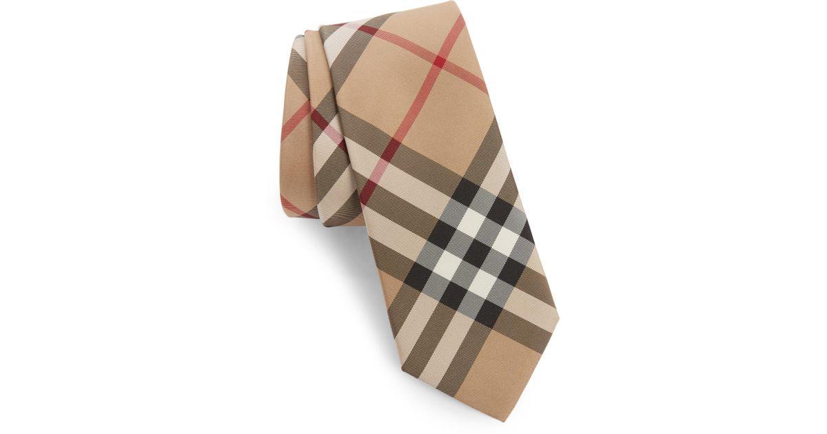 9907824f19f7 Check Men Tie For Burberry Lyst Silk Manston qE6AT