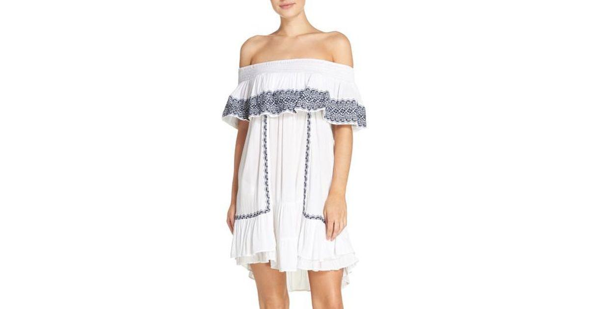 ee8b8280b5a Lyst - Muche Et Muchette Gavin Ruffle Cover-up Dress in White