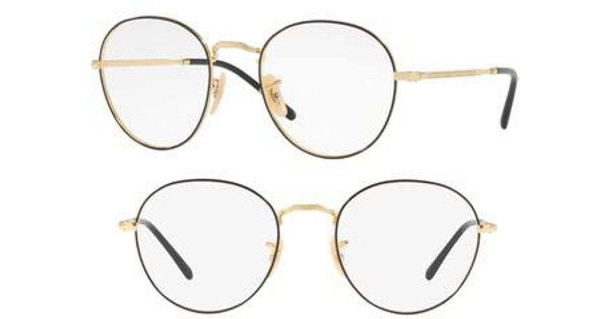 1e7088cccbd Lyst - Ray-Ban 3582v 51mm Optical Glasses in Metallic