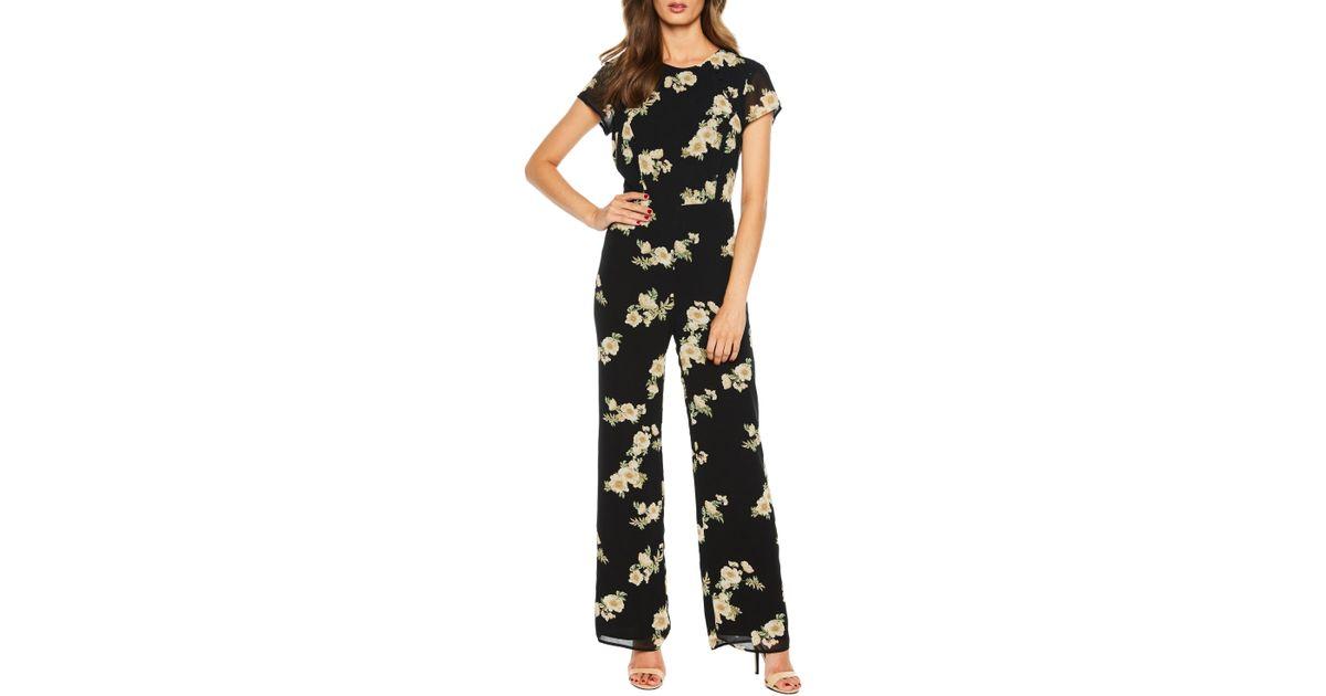 373f912c712 Lyst - Bardot Rina Floral Jumpsuit in Black