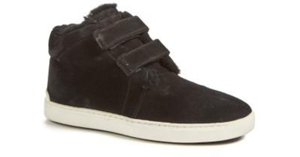 Rag & Bone Black Desert Shearling Kent Sneakers