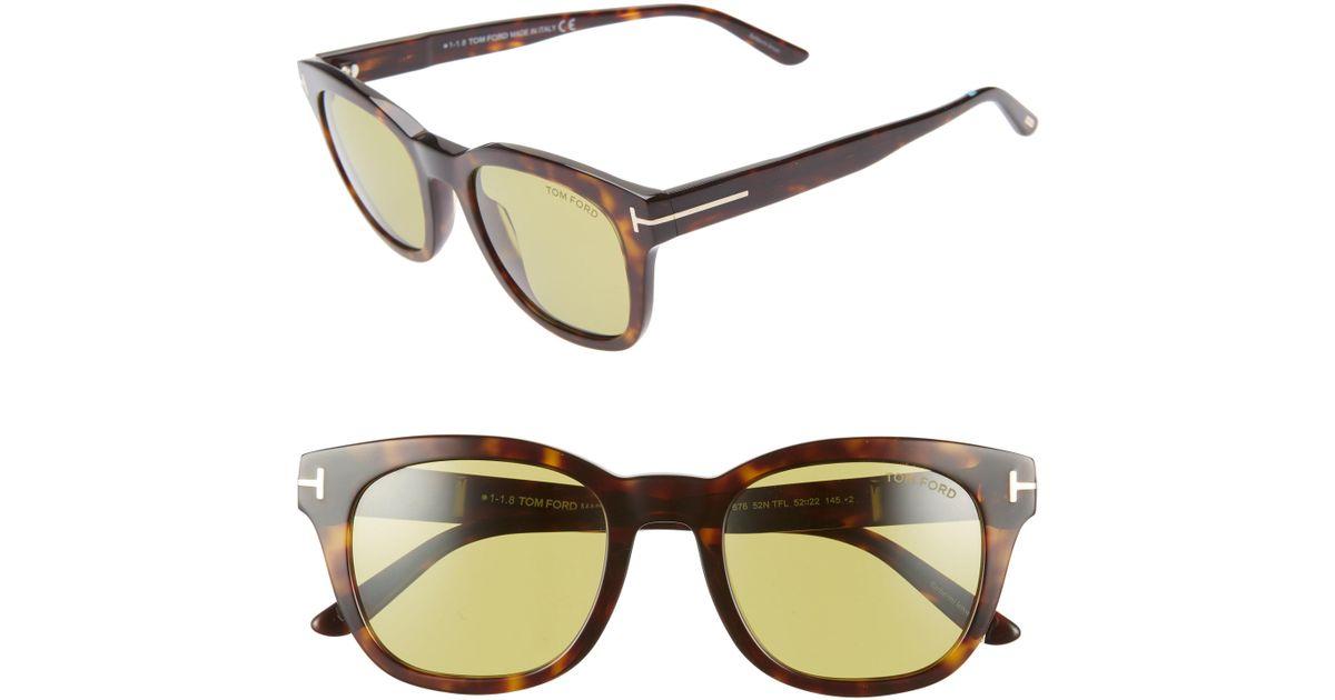 de7db0bf81d11 Lyst - Tom Ford Eugenio 52mm Sunglasses -