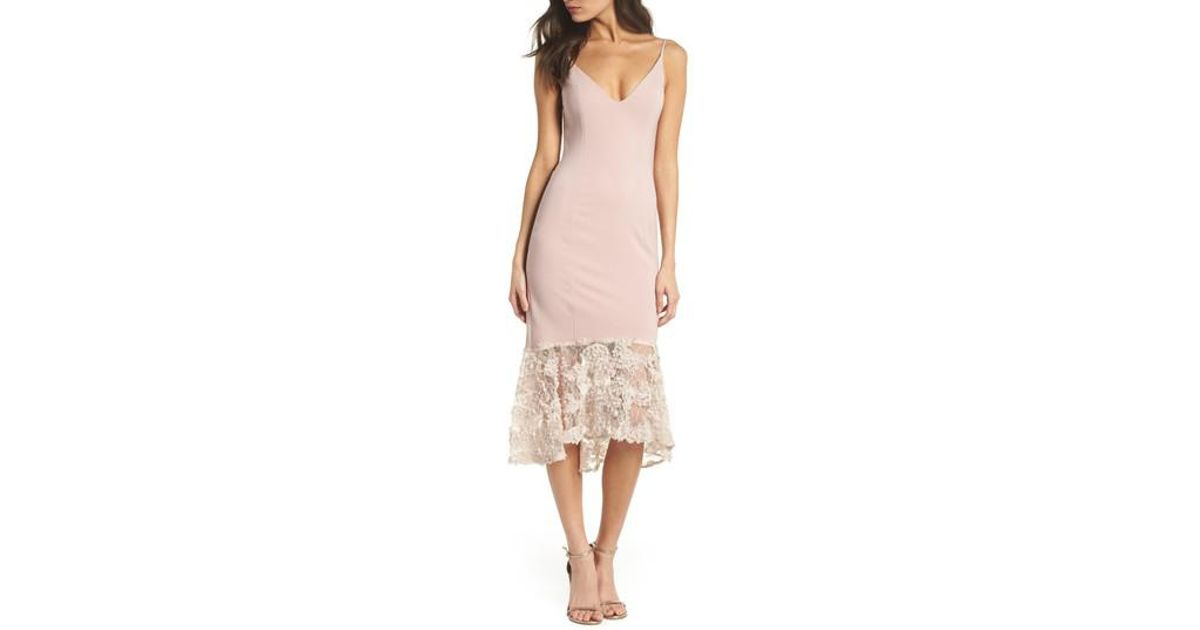 eee4bcd0bf5 Maria Bianca Nero Milly Lace Flounce Slipdress in Pink - Lyst