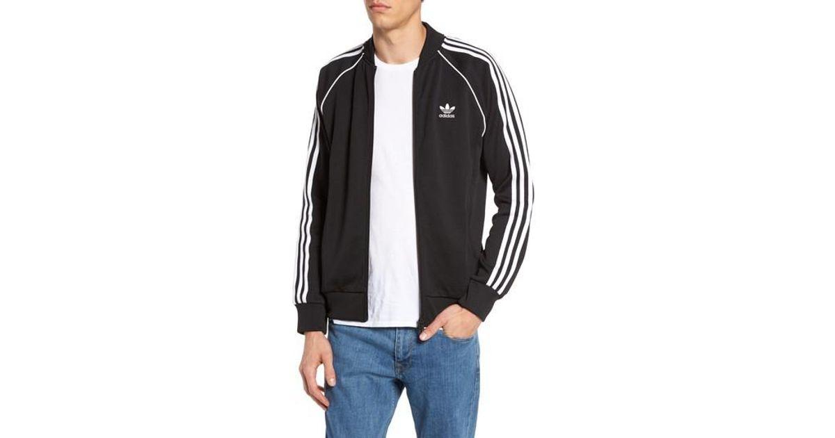 Adidas originali dei binari giacca in nero per gli uomini lyst